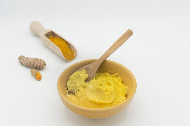 Curd with Turmeric powder