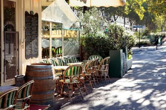 The café scene: