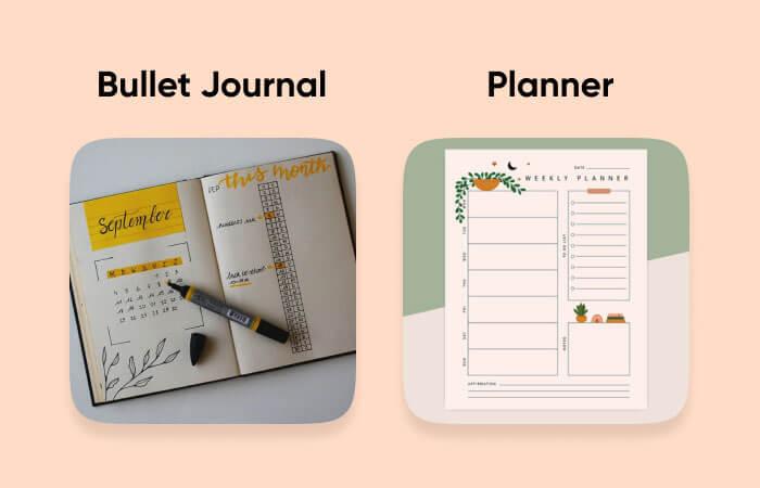 Bullet Journal vs. Planner