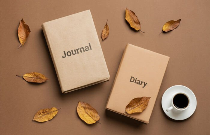 difference between a journal and a diary