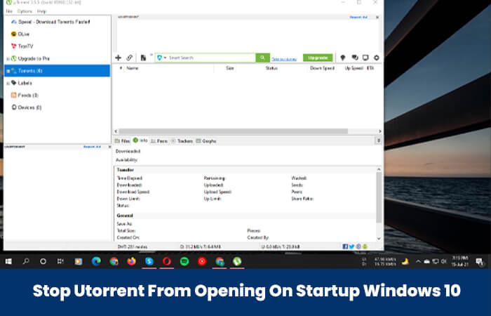 Stop Utorrent From Opening On Startup Windows 10