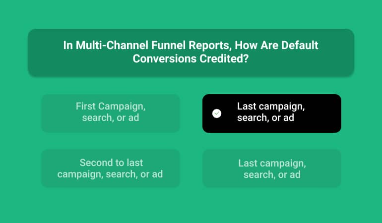In Multi-Channel Funnel Reports, How Are Default Conversions Credited