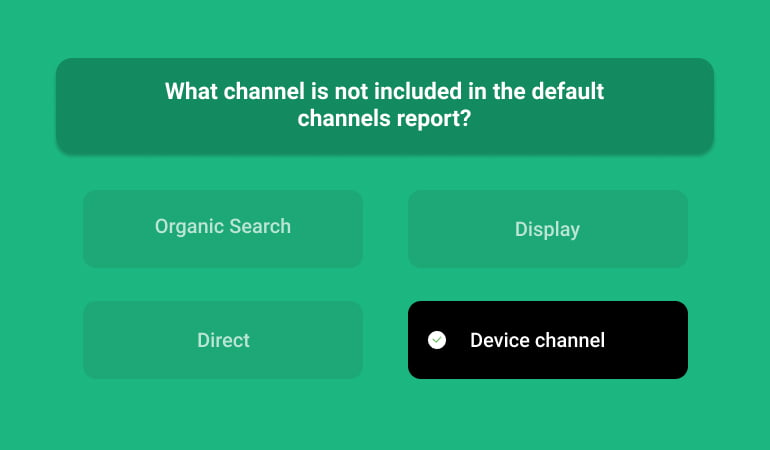 What Channel Is Not Included In The Default Channels Report